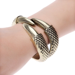 Luxurious Nobility Fashion Popular Vintage Style Punk Bracelet Bangle as picture one size