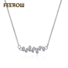 FEEHOW New jewelry Japan and South Korea Style clavicle chain white one size