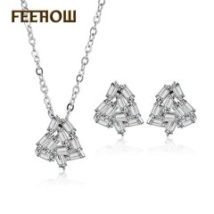 FEEHOW Cross-border supply of hot personality fashion necklace white one size