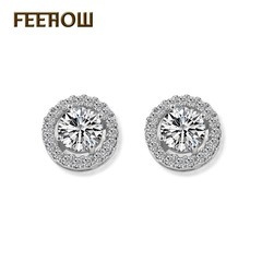 FEEHOW Korean version of the simple earrings white one size