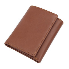Retro RFID Shielding Wallet Anti Scan Genuine Leather Wallet Male Purse Card Holder Bag brown one size