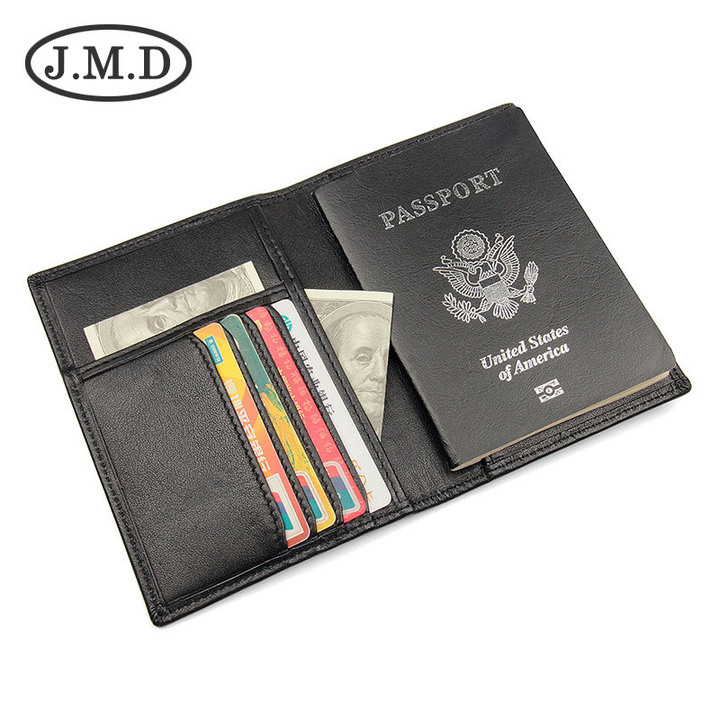 Passport Travel Wallet Genuine Leather Multi-purpose Credit Card Package ID Holder RFID Card Holder black one size