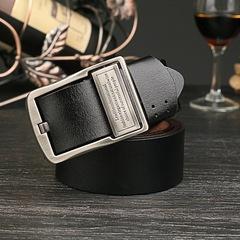 Designer Men's Genuine Leather Belt Fashion Retro Leather Business Casual Belt Men Cowhide Belt black 105CM