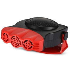 Portable Auto Car Heater Heating Cooling Fan Windscreen Window Demister Driving Defroster Demister red one size