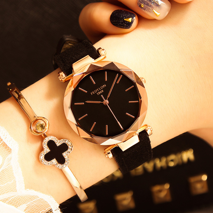 Women Quartz Watches Fashion Simple Mesh Style Ladies Clock Waterproof Female Wristwatch Girl Gift black one size