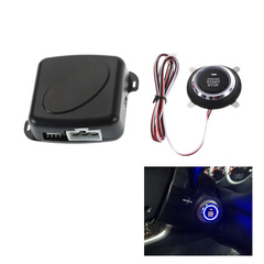 Car Engine Push Start Button RFID Safe Lock Ignition Switch Keyless Entry Starter Anti-theft System black one size