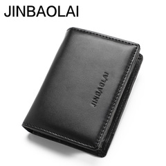 Men's Credit Card Holder Business Style PU Leather Card Case Wallet for Man Mini Male Purse black one size