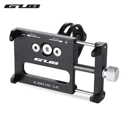 Aluminum Alloy Bicycle Handlebar Bike Phone Mount Cycling Holder Stand for Smart Mobile Cellphone black one size