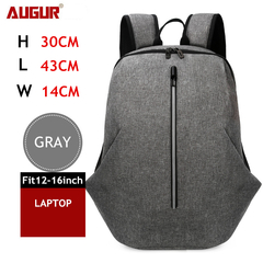 Oxford Waterproof Backpack USB Charging Laptop Travel Backpack Large Capacity Student School Bag gray one size