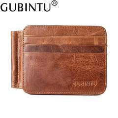 Men Wallet Top Quality Credit Card Holder Genuine Leather Clutch Ultra Thin Male Money Bag Purse coffee one size