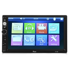 Rectangle 7010B 7 inch Bluetooth FM Radio Car MP5 Player with 720P Camera black one size