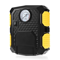 Car Tire Inflator Pump 12V Air Compressor with LED Light / 3M Power Cable / Cigarette Lighter black and yellow one size