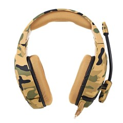 ONIKUMA K1 Stereo Gaming Headset 2.2m Cable Camouflage Appearance Bass Over-ear Headphones with Mic for Computer Game