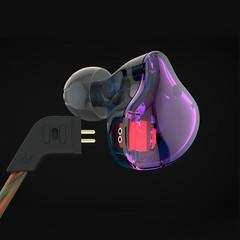 KZ ZST Wired On-cord Control Noise-canceling In-ear Earphones NO MIC