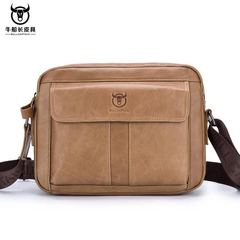 Men Briefcase Leather Genuine Leather Men Bag Men Shoulder Bags Crossbody Bag Brand Crossbody bag brown one size