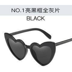 Love Heart Sunglasses Women Cat Eye Vintage Sun Glasses Birthday gift Heart shape Party Glasses c1 one size