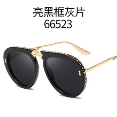 Fashion Folding Portable Style Pilot Sunglasses Women Diamond Decoration Fold Brand Sun Glasses c1 one size