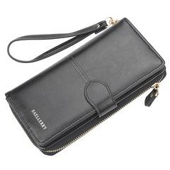 Women Wallet Large Capacity Mobile Phone Handbags Fashion Ladies Wallets Female Long Money Purse black one size
