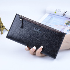 Women's Lady Slim Long Wallet Purse Concise Card Money Cash Coin Holder Zipper Popular Wallets black one size