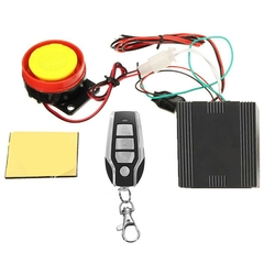 Anti-theft Remote Control Motorcycle Security Alarm System black one size