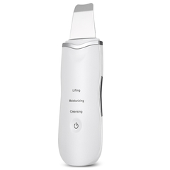 Ultrasonic Rechargeable Face Skin Scrubber Facial Cleaning Blackhead Removal Cleaner white