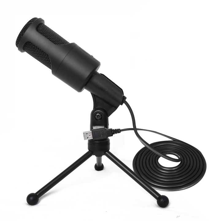 USB Wired Microphone with Recording Function for PC Laptop Supports KTV Singing