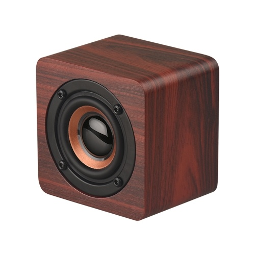 Q1 Mini Portable Wooden Bluetooth Speaker red one size