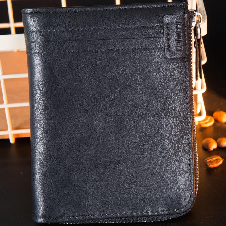 RFID Protection Wallet Men Brand Vintage Short Wallets PU Leather Purse Card Holder Fashion Wallet black one size
