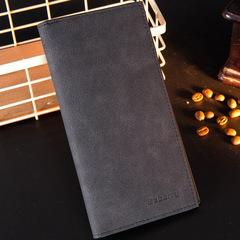 Men's Wallets Famous Brand Male Slim Men Long Wallets Thin Wallet Summer Style Purses black one size
