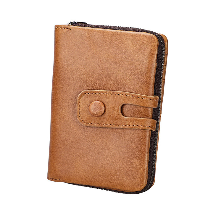 RFID Wallet Genuine Leather Wallet Womens Purses  Money Bag Card Holder Coin Purses brown one size