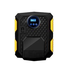 Portable Digital Display Emergency Tire Inflator DC 12 Volt Car Portable Air Compressor Pump 150 PSI yellow black one size