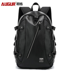 Fashion Men  Backpacks PU Travel Waterproof 15.6 Inch Women Laptop Backpack Teenager Student Bag black one size