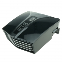 Laptop Air Cooler Fan Heat Extractor USB Power Temperature Display Speed Control Black one size