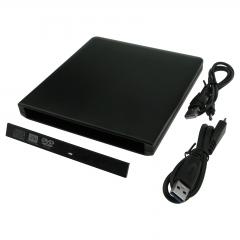 USB 3.0 Drive Enclosure Aluminum Case For 12.7mm Internal SATA DVD CD RW Burner black as picture