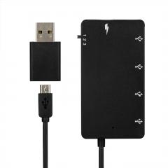 Micro USB To 4 Type A Female 1 Mobile Phone Charging Port OTG Hub Splitter Box