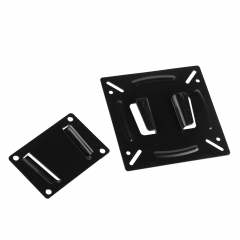 Metal Wall Mount Bracket Flat Fixed For VESA 75-100mm TV LCD Display 10 11 19 22 Black