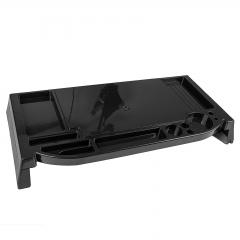 Desktop PC Monitor LCD Stand Riser Organizer Storage Mulit Holder Black Plastic
