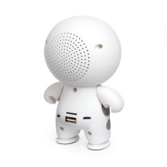 The New Cartoon White Wireless Bluetooth Speaker Sound Card U Disk Mobile Phone Portable Mini El