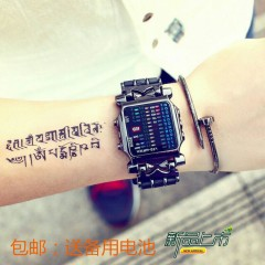 Fashion Trend Korean LED Watch Male And Female Students Electronic Watch Korean Version Of PerlJ