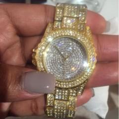 2017 Brand New vintage Ladies Luxury rose Gold Quartz dress Wristwatches Women Rhinestone Watches steel bling bling diamond