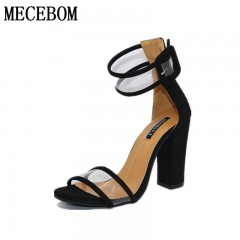 2018 shoes Women Summer Shoes  Fashion Dancing High Heel Sandals Sexy Stiletto Party Wedding Shoes 2258W black 4