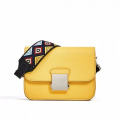 Fashion Brand Women Messenger Bag Yellow Mini Crossbody Bags Two Shoulder Straps Designer Handbags High Quality Ladies