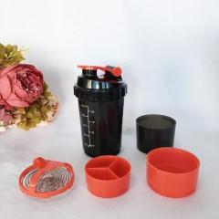 Hot Sale Multifunctional 600ml BAP Free Shaker Bottle Protein Shaker Blender Mixer Bottle Sports Fitness Gym 3 Layers