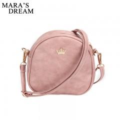 Mara's Dream 2018 New Women Bag Imperial Crown Women Messenger Bag Small Shell Crossbody Bag PU Leather Fashion Designer Handbag