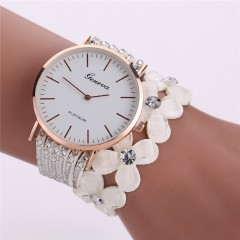 Fashion Leisure Watches Women Casual Quartz Bracelet ladies Watch Crystal Diamond Wrist Watch red
