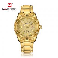 NAVIFORCE Top Luxury Brand Men Watches Golden Elegant Male Clock Popular Wrist Watch Modern Casual Business Relogio Masculino