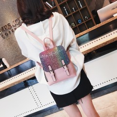 LEFTSIDE PU Leather Women Back pack 2018 Fashion Backpack Sequins Small Backpacks For Girls Gold Bag Female Bagpack On Sales