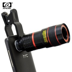 Lens for Phone 8x Zoom Mobile Phone Telescope Clip Lens for iPhone 5 6 6 Plus Cell Phone Universal Camera Lenses for Samsung