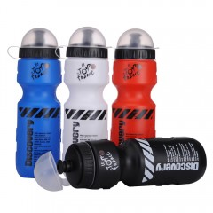 Portable Plastic Outdoor Mountain Bike Bicycle Cycling Sports Water Bottle Leak-proof Space bottle 650ml Black