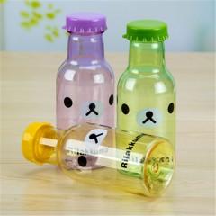Unbreakable Portable Leak-proof Cartoon Sport Kettle Outdoor Bear Sport Water Bottle 350ml Colorful pink